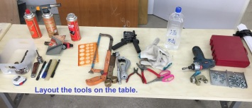 04_Layout the tools on the table